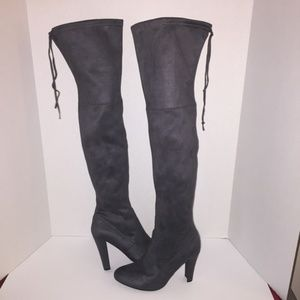 Steve Madden Gorgeous Over the Knee Boot Grey 5.5
